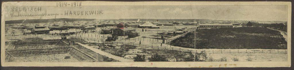 Zicht op het Belgenkamp Harderwijk