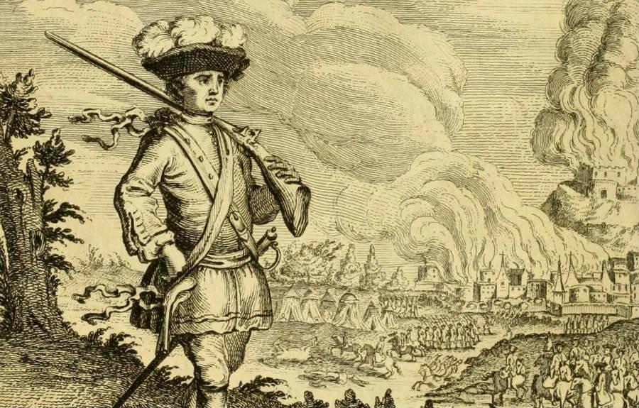 Henry Morgan bij Panama, achttiende-eeuwse gravure