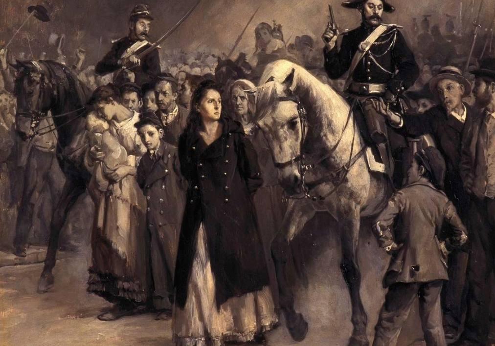 De arrestatie van communard Louise Michel - Jules Girardet (Publiek Domein - wiki)