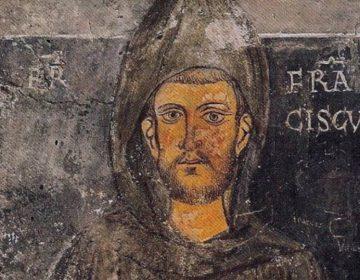 Oudst bekende afbeelding van Franciscus van Assisi, fresco in het klooster van San Benedetto, Subiaco (Publiek Domein - wiki)