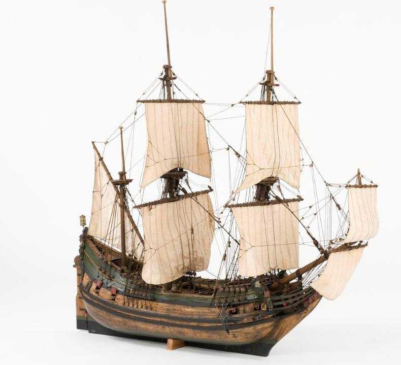 Model van een fluitschip (CC BY-SA 3.0 - Anneli Karlsson - wiki)