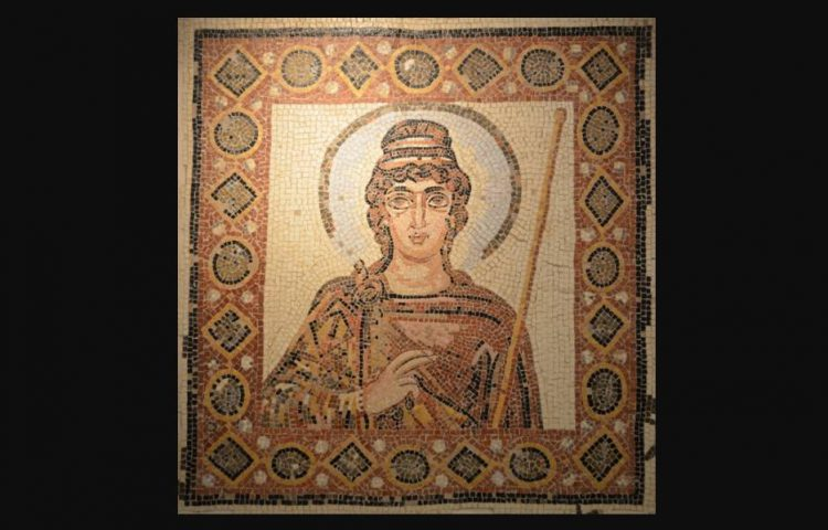 """De """"Dame de Carthage"""": zomaar een mooi mozaïek uit laatantiek Karthago (Musée de Carthage)"""