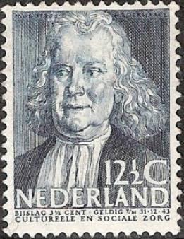 Herman Boerhaave op een postzegel uit 1938 (Publiek Domein - wiki)