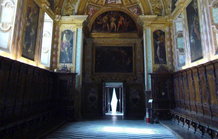 Deel van een parlatorium in Napoli