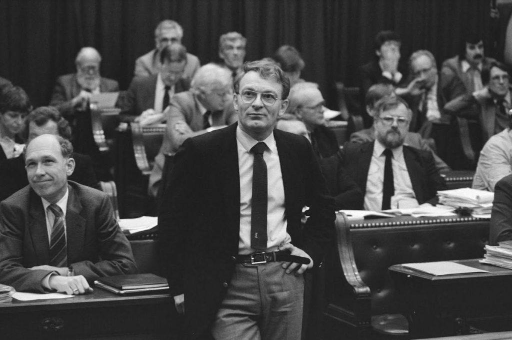 Hans Janmaat in de Tweede Kamer, oktober 1983