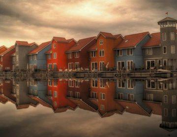 Goegemeente - Rij huizen