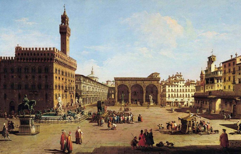 Zicht op Florence - Giuseppe Zocchi, eerste helft 18e eeuw