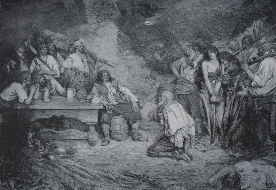 Henry Morgan met een gevangene - Howard Pyle