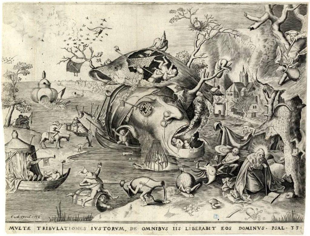 Hieronymus Cock naar Pieter Bruegel - Patientia / geduld (een van de zeven deugden)