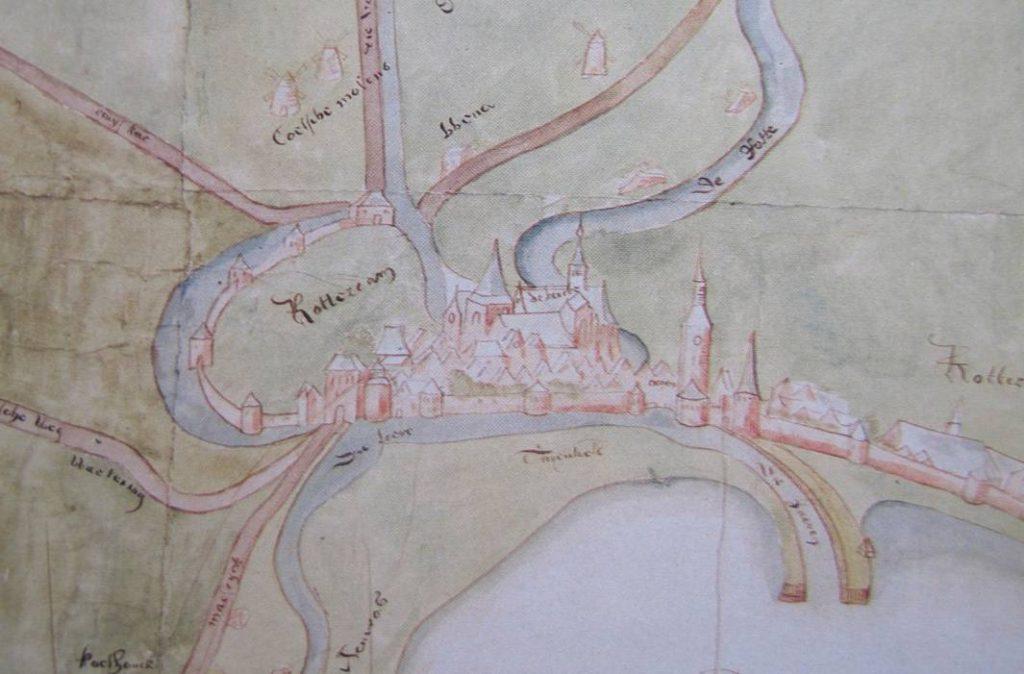 Rotterdam in 1540 - Kaart van Cornelis Cornelisz de Schilder