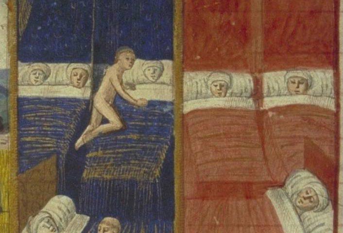 Miniatuur uit 'Les Cent Nouvelles nouvelles' - Detail