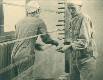 Een foto van de fabriek in 1940
