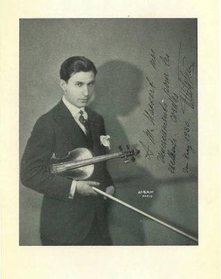 Voorbeeld van een aanbeveling:  de violist Nathan Milstein (Archief Uri M. Kupferschmidt)
