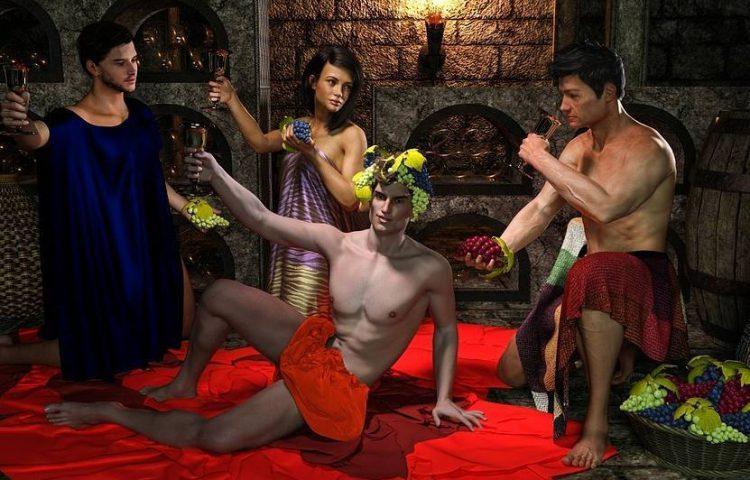 Aan Bacchus offeren - Moderne verbeelding van een bacchanaal