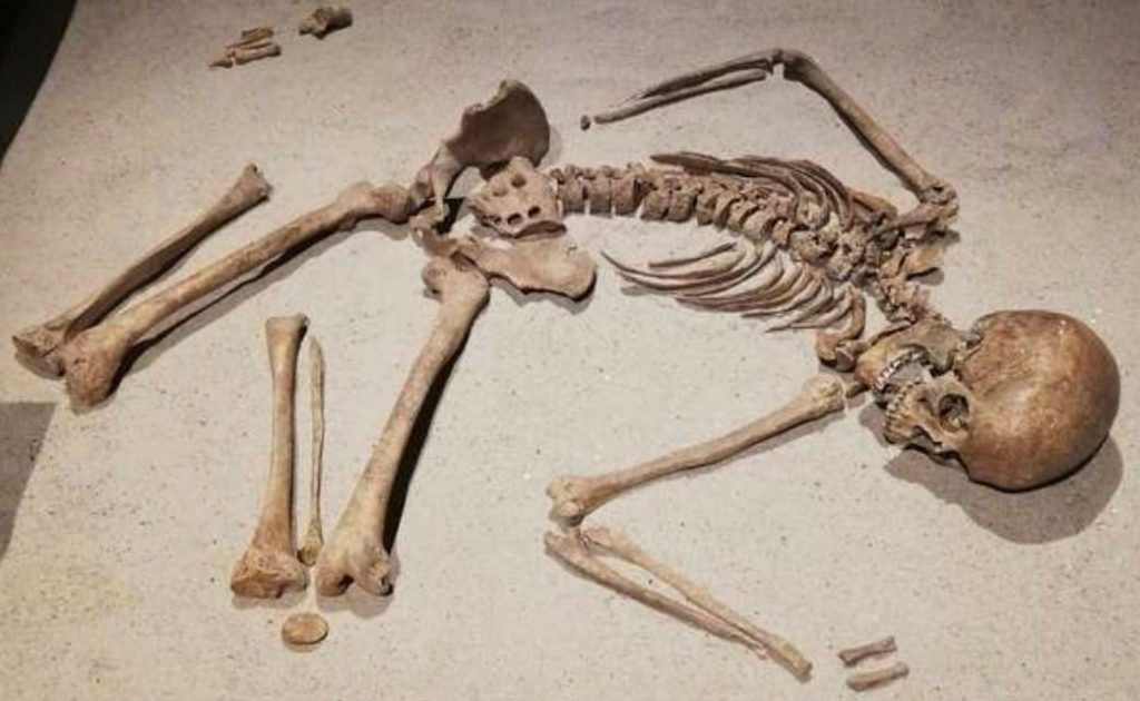 Het slachtoffer van een Vikingaanval op Zutphen (882)