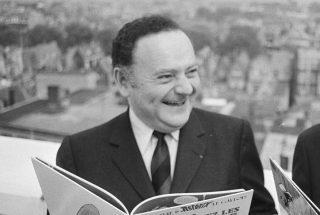 René Goscinny in 1971 tijdens een bezoek aan Nederland