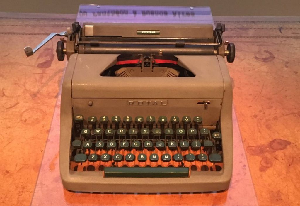 Schrijfmachine van René Goscinny