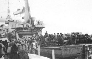 Duitsers ontvluchten Köningsberg, 1945