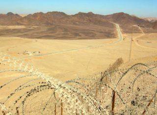 Suezcrisis - Grens van Egypte met Israël