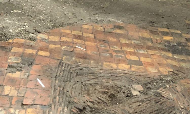Deel van de vloer (Foto: Vlaams ministerie van Onroerend Erfgoed)