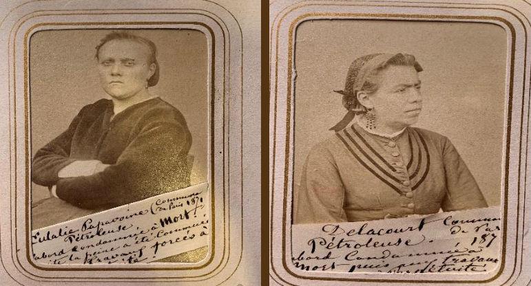 'Cartes de visites', fotografische kaartjes met portretten van gevangen Communards