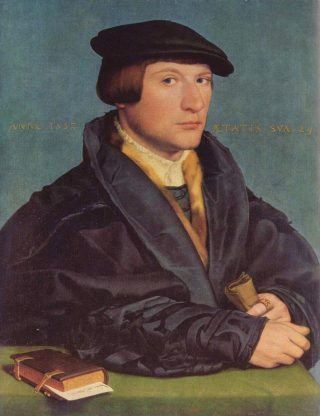 De Keulse koopman Hermann Wedigh, één van de portretten die Hans Holbein in Londen maakte (1532). | Metropolitan Museum of Art, New York.