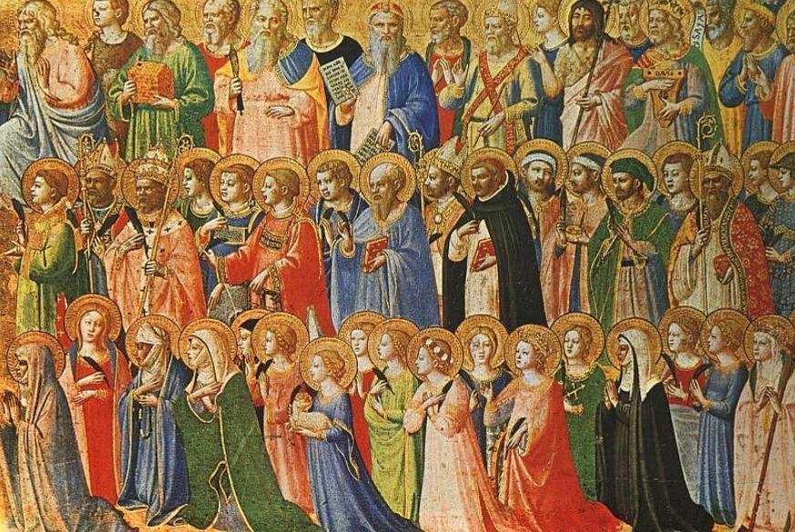 Allerheiligen - Schilderij door Fra Angelico