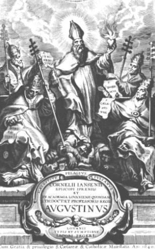 Voorblad van 'Augustinus', het postuum uitgegeven werk van Cornelius Jansen