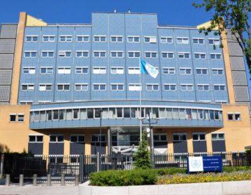 Voormalig gebouw Binnenlandse Veiligheidsdienst in Leidschendam (juli 2010). Nu is hier gehuisvest het Libanon-tribunaal van de Verenigde Naties.
