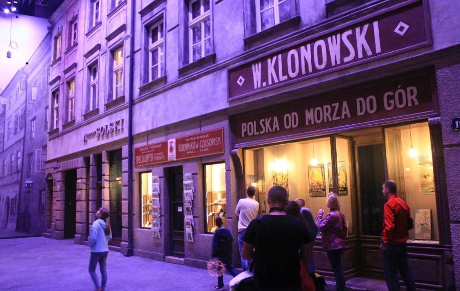 Poolse straat in het Museum van de Tweede Wereldoorlog in Gdansk
