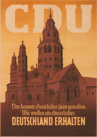 Verkiezingsposter van CDU 1949
