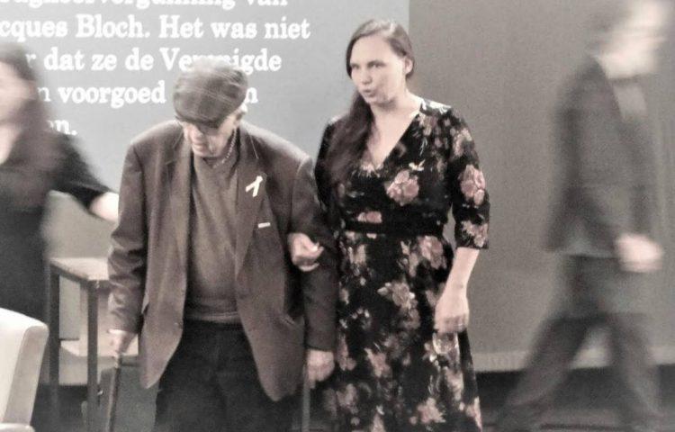 Jacques Bloch aan de arm van auteur Tina De Gendt
