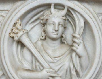 Selene op een Romeinse sarcofaag