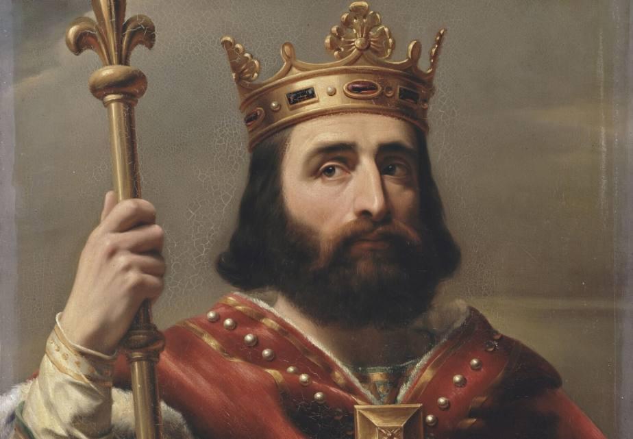 Hofmeier Pepijn de Korte als koning der Franken - Louis Félix Amiel, 1837
