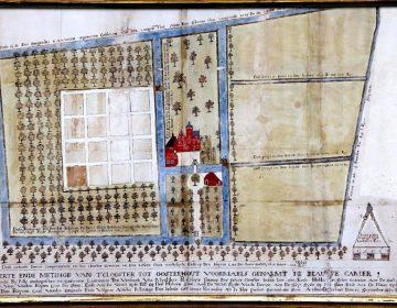 Kaart van het kasteeltje in Oosterhout, 1650