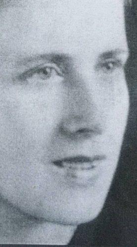 Portretje van Mala, uit 1946, twee jaar na de test bij de Einwandererzentralstelle.