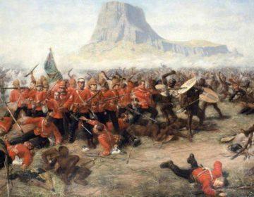 Boerenoorlogen - Slag bij Isandlwana - Schilderij van Charles Edwin Fripp