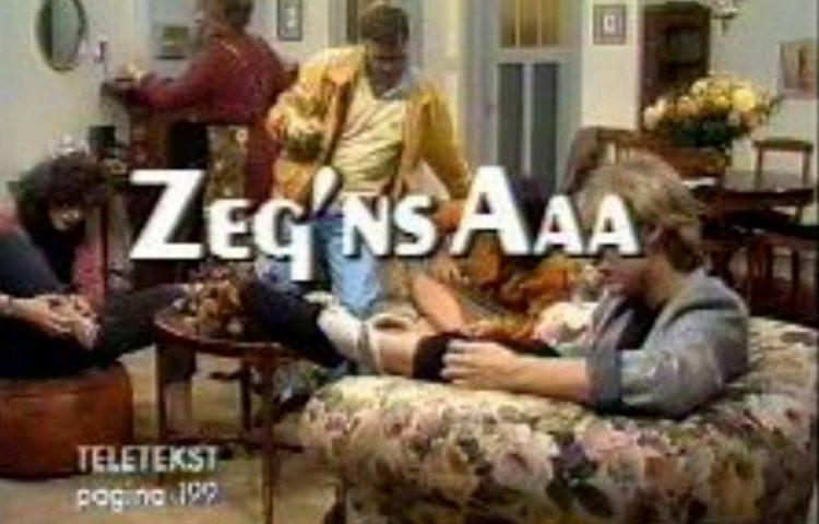 Titelkaart van 'Zeg 'ns Aaa' uit 1985