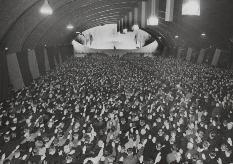NSB-bijeenkomst in Utrecht,  1941