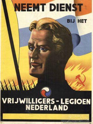 Wervingsposter van het Vrijwilligerslegioen Nederland
