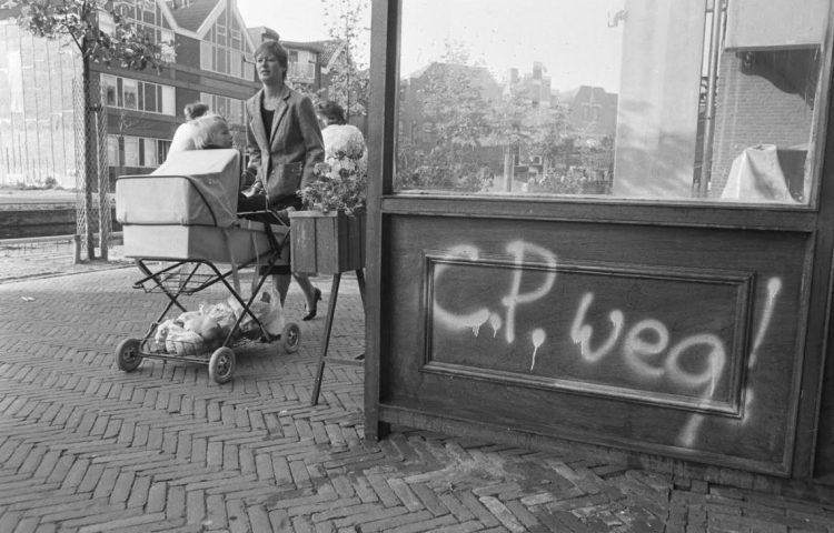 Leus tegen de Centrumpartij in Almere; september 1983