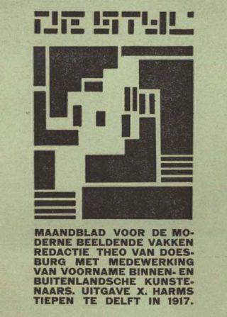 De Stijl, Vol. 1, no. 1, Delft, 1917