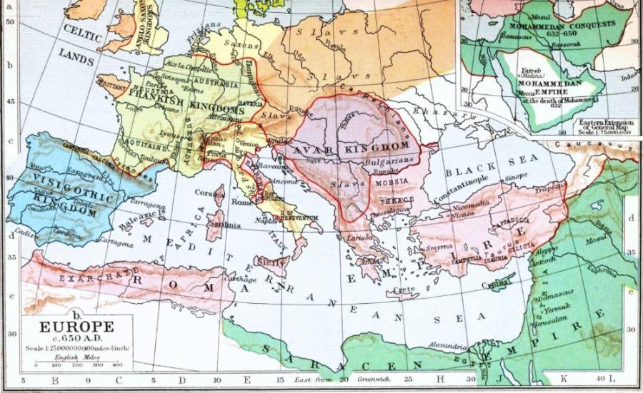 Europa in 650