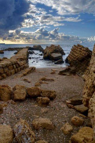 Restanten van een van de pieren