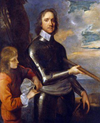 Oliver Cromwell als veldheer, 1649 - Schilderij van Robert Walker