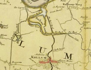 Kollum in de Atlas Schotanus, 1718