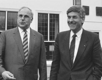 Helmut Kohl en Ruud Lubbers, 30 november 1987
