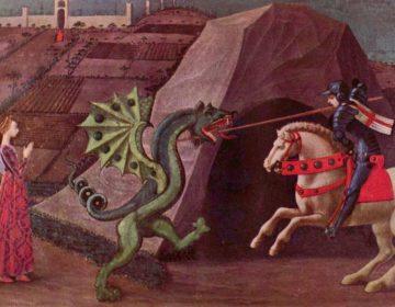 Sint-Joris en de draak - Schilderij van Paolo Uccello