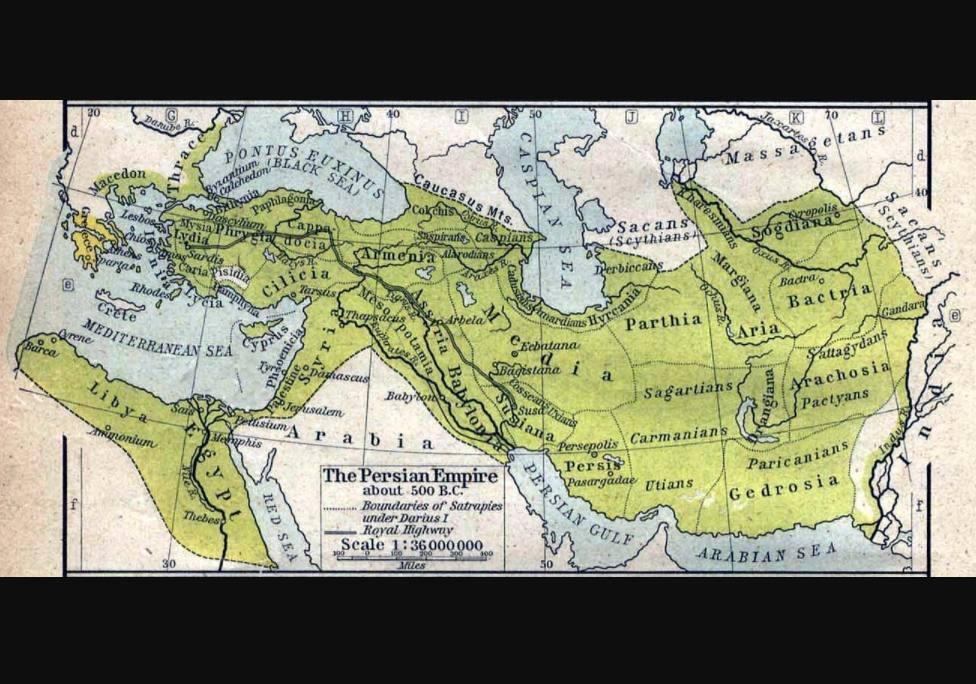 De satrapieën van het Perzische Rijk rond 500 v.Chr.