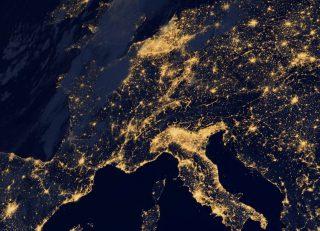 Satellietfoto van een deel van een Europa
